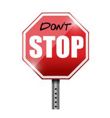 do not stop illustration design