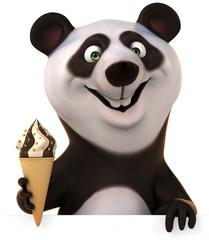 Panda and ice cream