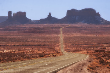 Route 163 in Arizona to Monument Valley