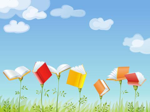 books banner vectorial illustration