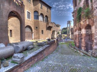 Roma, il foro Piscario, veduta
