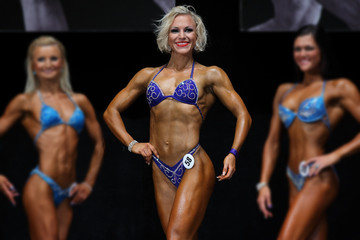 woman fitness competition scene