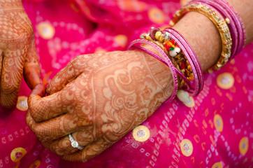 henna , saree , bride , wedding , Rajasthan, India