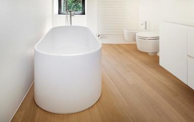 Obraz modern loft, bathroom with bathtub - fototapety do salonu
