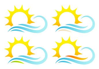 Sun & Waves Landscapes Set
