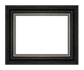 Picture frame isolated on white background.