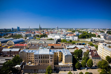 Areal view on the city of Riga, Latvia