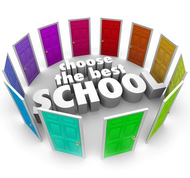 Choose Best Schools Colored Doors Top College University Choice