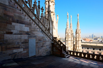 Fotomurales - Duomo cathedral of Milan - view from roof terrace