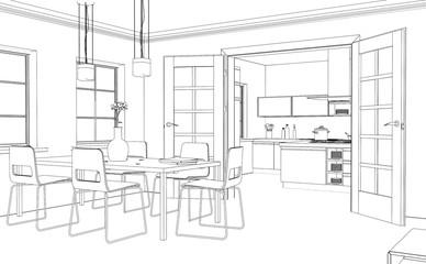 Entwurf modernes Interior Design