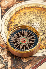 Wall Mural - Vintage old compass