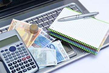 Computer, calculator and money