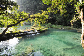 Natural monument park of Semuc Champey at Lanquin