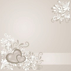 Hintergrund mit Herzen und Ornamenten