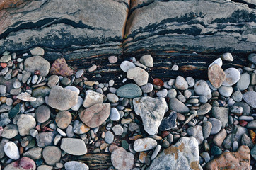 Pebbles on the seacoast