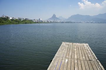 Lagoa Rio de Janeiro Brazil Scenic Skyline Dock