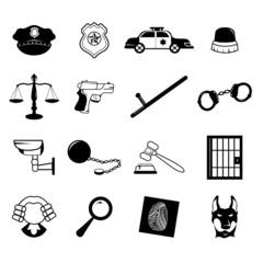 Law enforcement icons