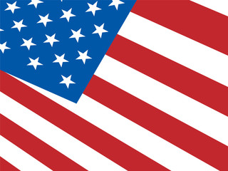 American Flag Background Shows Democracy And Independence
