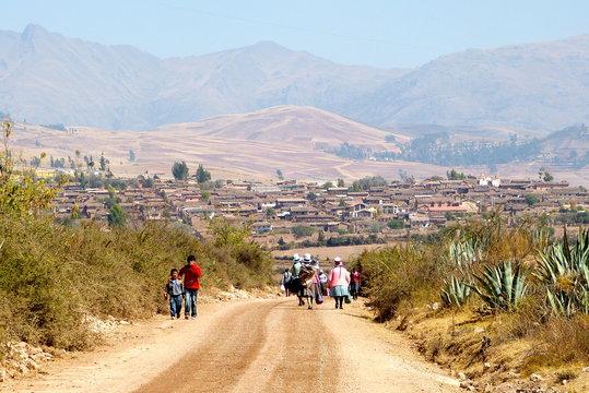 Near Maras in Peru