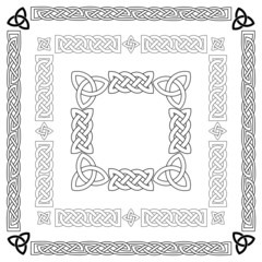 Celtic knots, patterns, frameworks vector
