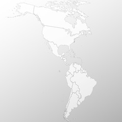 North and South America map background vector