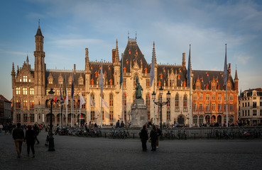 Wall Mural - Market square Bruges