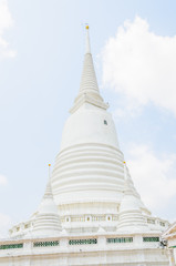 White pagoda wat-prayoon in bangkok thailand