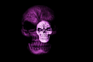 Purple Ghost Skull