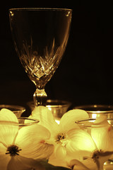Romance - Wine, Candlelight, and Flowers