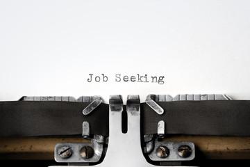 """""""Job Seeking"""" written on an old typewriter"""
