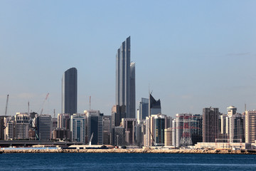 Abu Dhabi Downtown skyline. United Arab Emirates