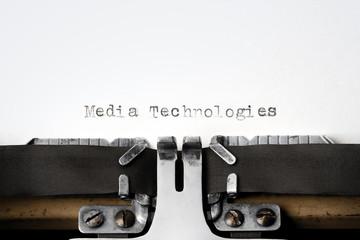 """""""Media Technologies"""" written on an old typewriter"""