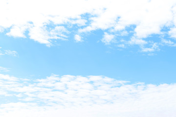 White clouds in blue sky outdoors