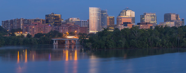Rosslyn, Virginia - Rosslyn skyline as seen from Washington, DC