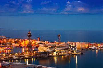 Port Vell in night. Barcelona