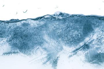 ice through water