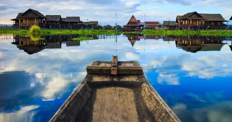 boat in inle lake, Shan state, Myanmar