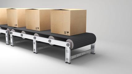 conveyor belt with cartons