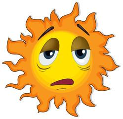 A tired sun