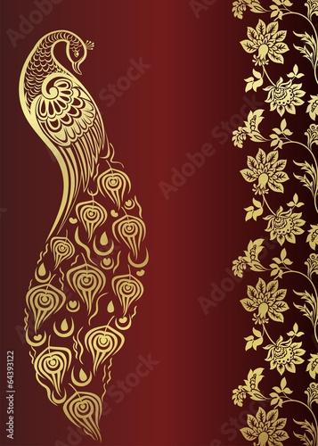 Peacock Wedding Card Design Royal India Stock Image And Royalty