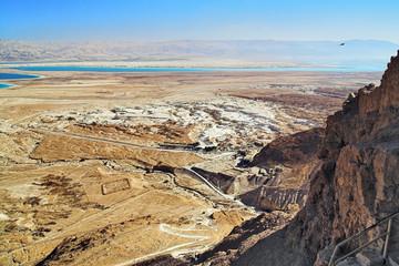 View on Dead Sea from Masada, Israel