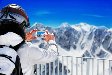 Taking A Picture At Gaislachkogl, Sölden, Austria