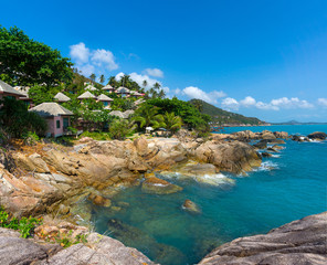 Wall Mural - Rocky coastline on Samui Island