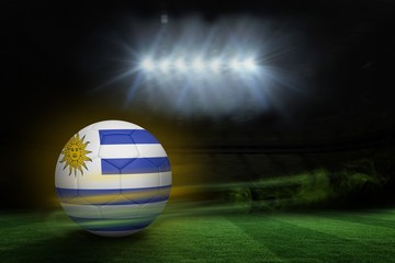 Composite image of football in uruguay colours