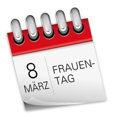 Kalender rot 8. März Internationaler Frauentag (Weltfrauentag)