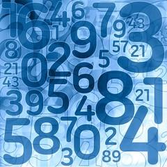 random lottery number background