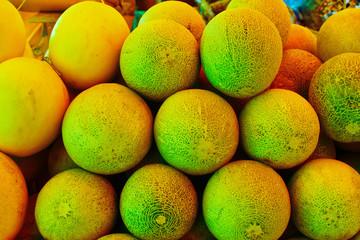 Fresh melon from organic farm in local market,Thailand