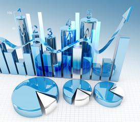 3d finance graphics