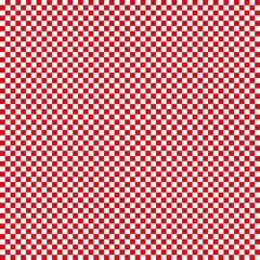 red plaid background
