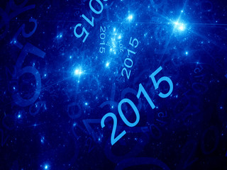 New year fractal background